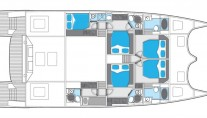 Catamaran EWHALA -  Accommodation Layout