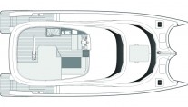 Catamaran EWHALA -  Flybridge Layout