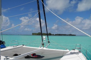 Catamaran FOLLIA -  Relaxing on the Trampolines