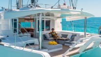 Catamaran LOTUS - Aft deck