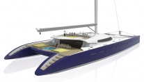 Catamaran Nahema 120 - Image credit to H2X