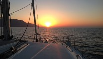 Catamaran OKEANOS -  At Sunset