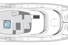 Catamaran SKYLARK -  Flybridge Layout