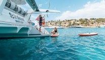 Catamaran SPLIT SECOND - Swim platform