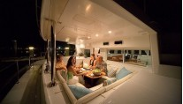Catamaran WHISPERS -  Aft Deck at Night