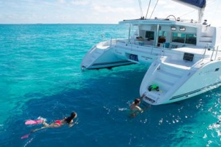 Catamaran WHISPERS -  Swimming on charter