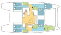 Catana 50 Layout view