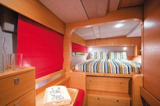 Catana 50 cabin view