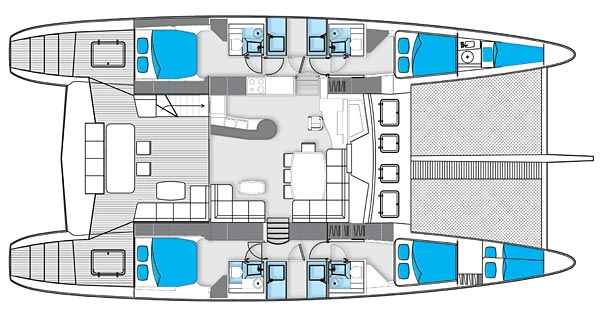 Layout Image Gallery Santana IV Of Plymouth 1 Sunreef 62 Cat FIREFLY