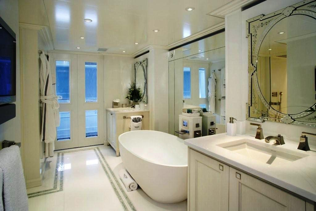 Master Bathroom Pictures luxury yacht charter polar star - bathroom b - sanlorenzo