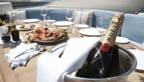 Champagne O Clock -  Lunch on Flybridge