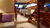 Charter yacht DOLCE VITA - Salon to Dining