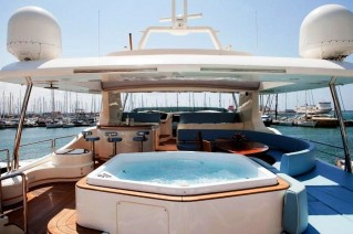 Charter yacht ITACA CLUB -  Spa Pool on Sun deck