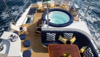 Charter yacht RESTLESS - Sundeck from Above