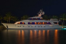 Christensen superyacht Sea Bear by night