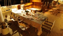 Classic Sailing Yacht XARIFA -  Dining on Deck