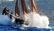Classic Tall Ship RHEA -  Racing in the Bodrum Cup