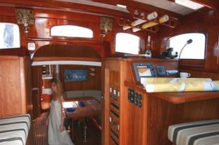 Classic Yacht ANITTA -  Pilothouse and lower Salon