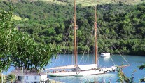 Classic Yacht Eleonora E - Moored in the Caribbean