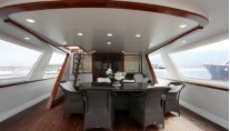 Classic Yacht HATHOR -  Aft Deck Dining