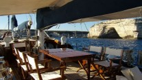 Classic Yacht Lady Sail -  Al Fresco Dining table