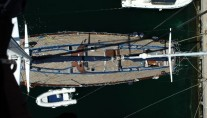 Classic Yacht Lady Sail -  Deck from above