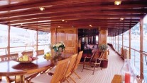 Classic Yacht OVER THE RAINBOW -  Aft Deck