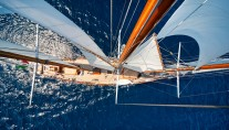Classic sail yacht CROCE DEL SUD - From Above