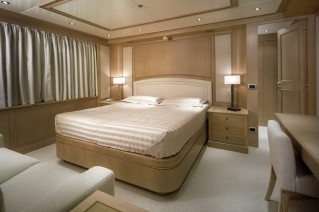 Clean and elegant accommodation aboard superyacht FERDY
