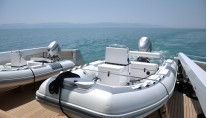 Close up of the tenders on the Motor Yacht Ceylan