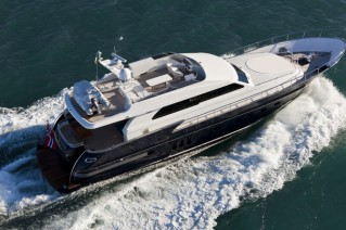 Continental II 23.00 Flybridge Yacht - Upview
