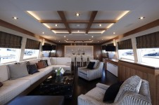 Couach 3700 Motor Yacht Arion Salon by Ken Freivokh