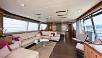 Custom Line 100 by Ferretti Superyacht DESTA - Salon