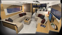 Design Unlimited Interior of the Sunseeker 63 Motor Yacht