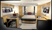 Design Unlimited Interior of the Sunseeker Manhattan63 - Master stateroom