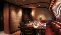Dining on board of charter yacht Rosehearty - Perini Navi