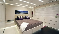 Double guest cabins with violet details - BARAKA yacht