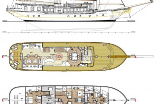 Dream Ship Victory Sailing Yacht Imagination - General plan - Image courtesy of DSV