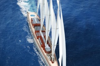 Dream Symphony megayacht top view - Image courtesy of Dykstra & Partners