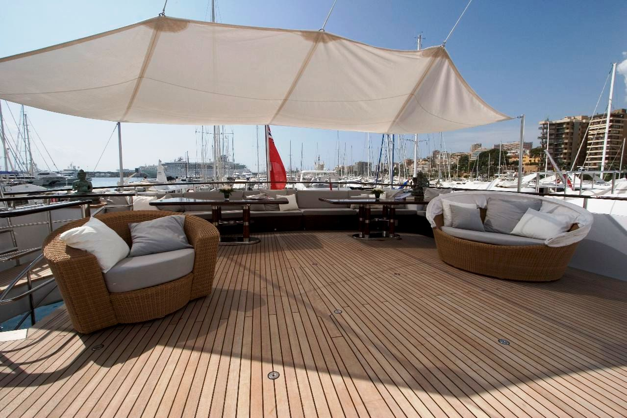 Mirage Elizabeth F Huge Deck Lounge Luxury Yacht