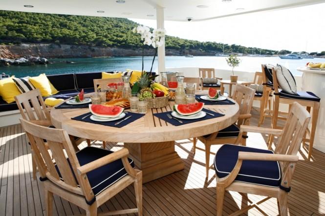 Sporades islands luxury yacht charter superyacht news for Table design yacht