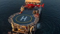 Explorer Yacht ATMOSPHERE -  Helipad from Above