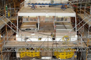 Extensive works done at the Pendennis shipyard on the super yacht Illusion