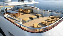 Exterior of Prima superyacht  by Palumbo