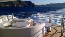 Exterior spaces on board motor yacht THUMPER