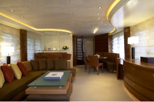 Far Niente superyacht - saloon