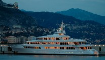 Feadship Motor Yacht At Night