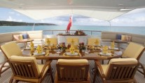 Feadship Motor Yacht HUNTRESS - Aft Deck Alfresco Dining