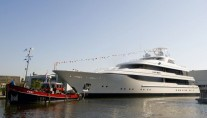 Feadship Super Yacht Lady Britt at her Launch