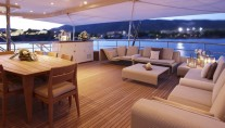 Feadship superyacht Helix by night